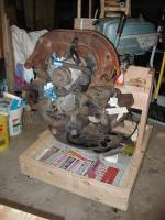 Roll around engine stand