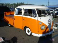 Orange and White Double Cab