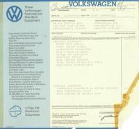 1973 Westfalia Original Window Sticker