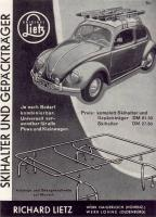 Old Beetle roof rack ad