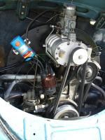 Split with neat supercharger equipped engine