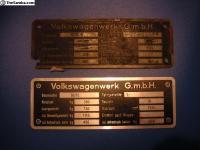 Split bug badge replica and 1949 original