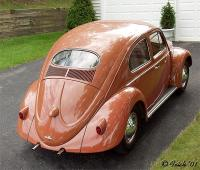 1956 Oval Bug  -- Coral Red