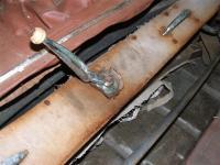Early hood crank handle