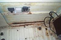 Rusted out behind the Galley