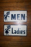 Bubblehead Bathroom signs