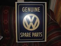 Genuine VW Spare Parts Sign