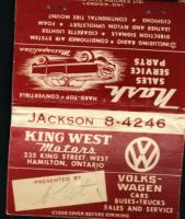 vw 1950 matchbook