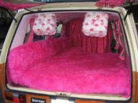 Pink Vanagon interior
