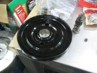 36 hp pulley after powder coating