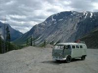 bus in the rockies