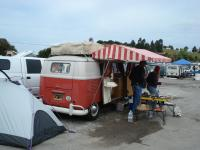 Westy and tent