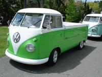Green and White Single Cab