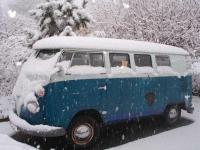 My microbus under the snow