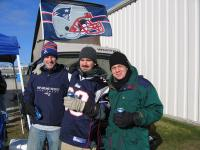 me in the middle with my brother, left, at Lambeau for Pats Game