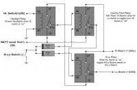 Relay circuit for replacing Hi-Lo Dimmer Relay