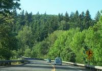 Just over the bridge into Oregon