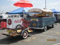 My 1956 SC with 1956 trailer and Coca Cola workbike.