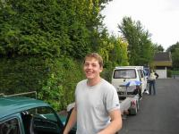 guy after first  driving in a 2,4l typ4 beetle