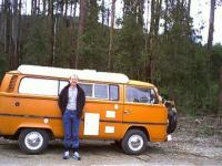 """Me and my bus """"offroad"""" near Marysville, Vic. Aus."""