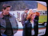 X-Files- Mulder and Scully pass by a Westy