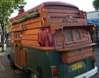 Wood Gypsy Hippy Bus-Baywindow