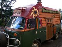 Wood Gypsy Hippy Bus-Baywindow with Roo Bar