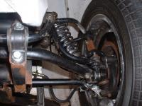 double A arm suspension with rack & pinion steering