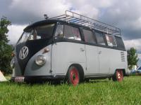 """Nice double door splitbus on """"Krabbeli 2007"""" in Hosingen, Luxemburg."""