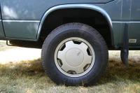 Audi 5000 Turbo wheels, Pirelli Scorpion A/T 215/75 R15, 1764# load rating