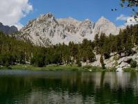 Gilbert Lake on Kearsage Pass Trail