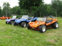 row of buggies at the show