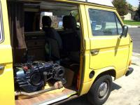 My '81 Westy with rebuilt motor in the passenger compartment