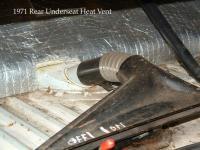 1971 Rear Underseat Heater Vent Close-up