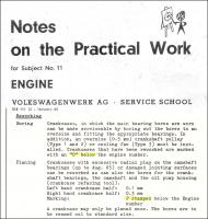 Notes of the Practical Work - Engine - Subject 11