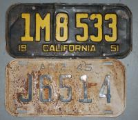 Early AZ/ CA License Plates (For the forums)