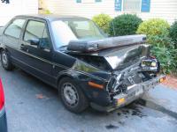Wrecked Jetta...