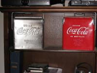 6 pack coke coolers, stainless and painted versions.