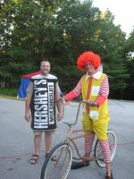Ronald with a hershey bar