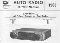 1968 Sapphire radios