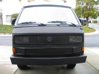 Front view - GoWesty steel bumper
