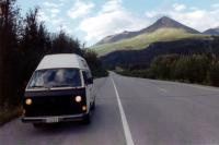 1982 AdventureWagen on side of road in Alaska