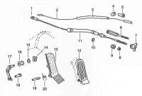 Accelerator Pedal and Cables Exploded Diagram