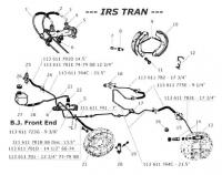 Brake Lines Ball Joint Front End and IRS Rear End Exploded Diagram