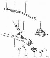 Emergeny Brake Lever/Handle Exploded Diagram