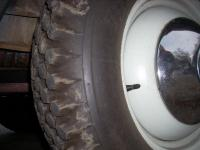 close up of PBR rear tire