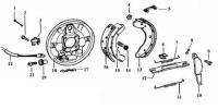 Brake Backing Plate (Rear) Exploded Diagram