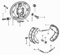 Brake Backing Plate (Front) Exploded Diagram
