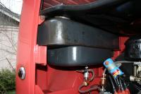 Barndoor gas tank