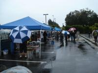 Rainy swap meet